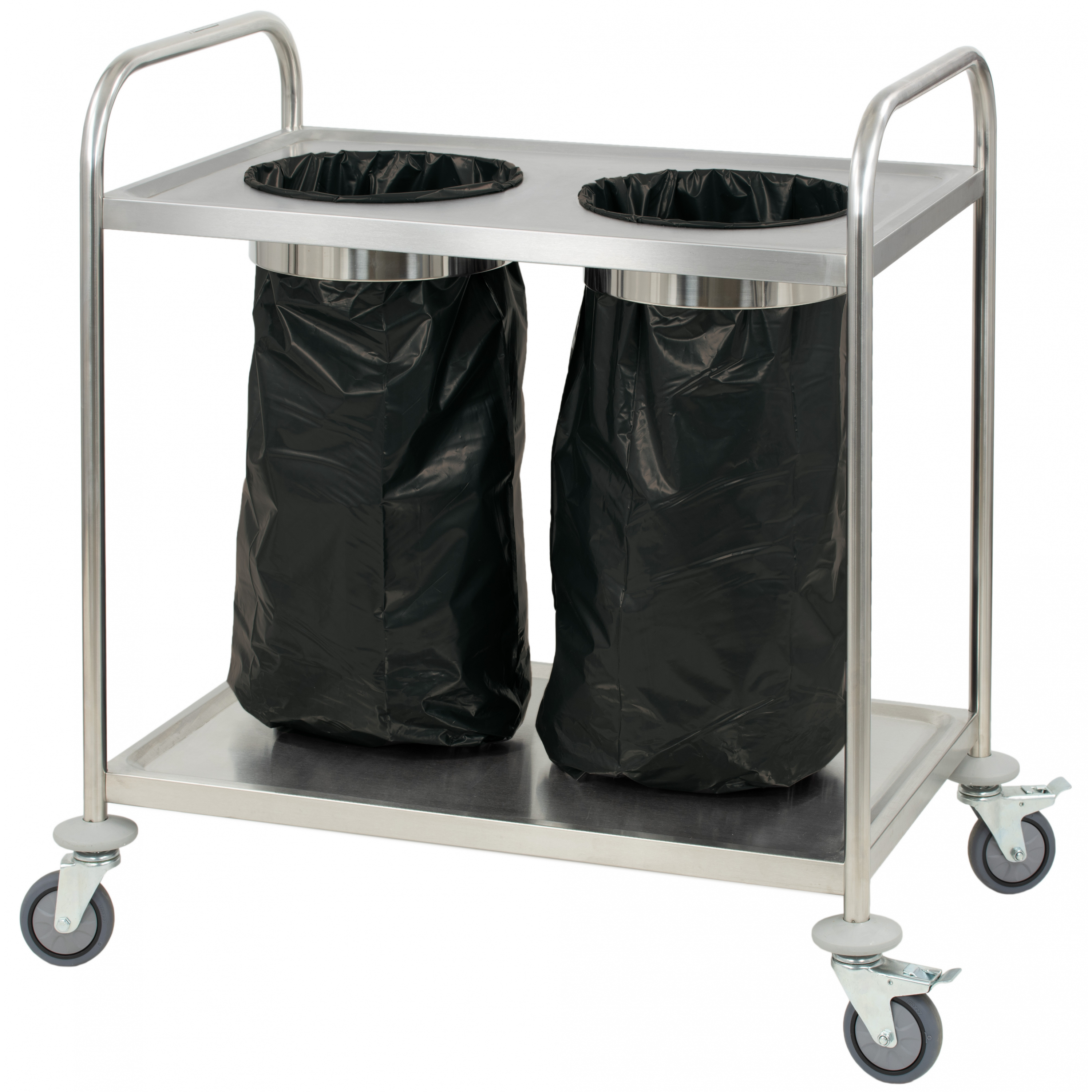 Garbage Bag Holder Stainless Trolley Professional Casselin