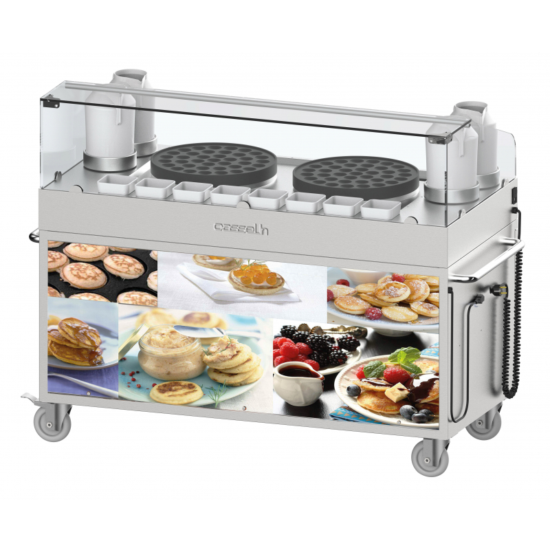Double poffertjes trolley
