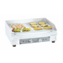 Electric griddle smooth - grooved plate Premium